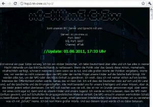 Screenshot der Seite http://hop2.nn-crew.cc/npd/ vom 14.06.2011 22:54:38 Uhr