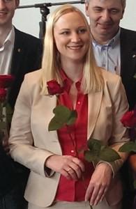 Dörte Schall, Kandidatin für die Europawahl am 25. Mai 2014. Geht hin und wählt sie!