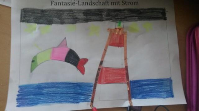 Ein maritimes Motiv mit Leuchtturm.